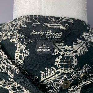 Lucky Brand Tops - Lucky Brand Black and White Bordered Henley